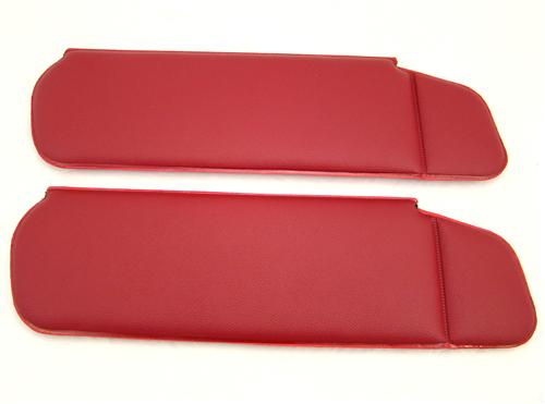 Mustang Sun Visors Canyon Red Vinyl (84-86)