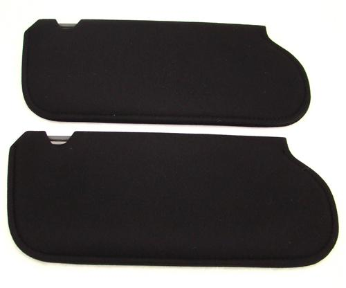 Mustang Sun Visors Black Cloth (85-93)