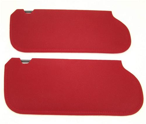 Mustang Sun Visors Canyon Red Cloth  (1984)