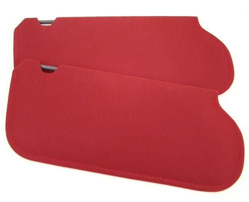 Mustang Sun Visors Canyon Red Cloth (85-86)