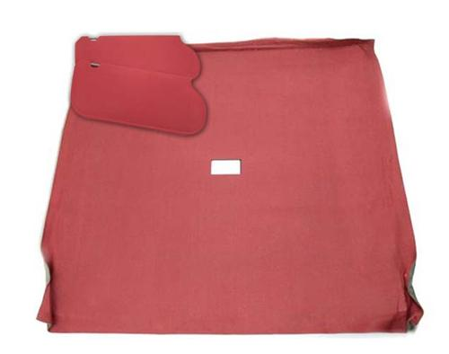 Mustang Sunvisor And Headliner Kit Canyon Red Cloth (85-86) Coupe  - Picture of Mustang Sunvisor And Headliner Kit Canyon Red Cloth (85-86) Coupe