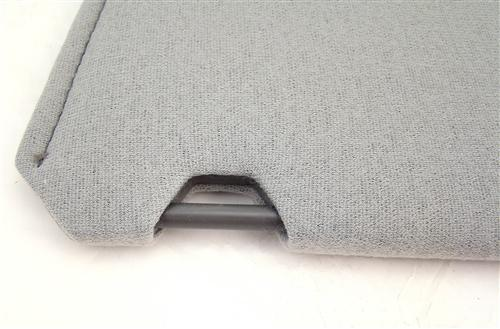 Mustang Sun Visors  Light Gray Cloth (85-86)