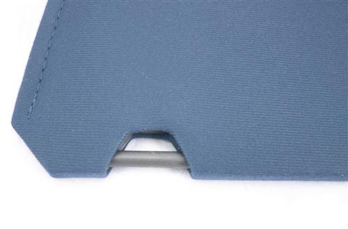 Mustang Sun Visors Crystal Blue Cloth (90-92)