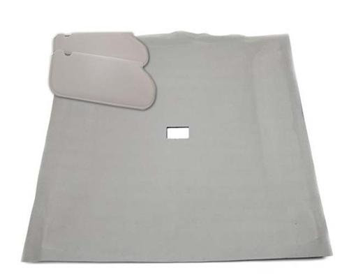Mustang Sunvisor And Headliner Kit Smoke Gray Cloth (87-89) Coupe - Picture of Mustang Sunvisor And Headliner Kit Smoke Gray Cloth (87-89) Coupe