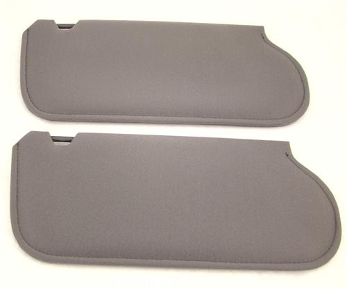 Mustang Sun Visors Dark Gray Cloth  (85-86)