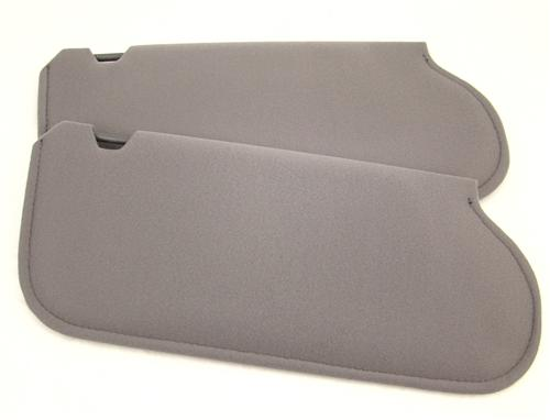 Mustang Sun Visors Smoke Gray Cloth (87-89)