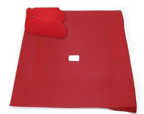 Mustang Sunvisor And Headliner Kit Scarlet Red Cloth (87-92) Hatchback - Picture of Mustang Sunvisor And Headliner Kit Scarlet Red Cloth (87-92) Hatchback