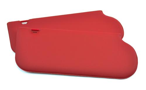 Mustang Sun Visors for Sunroof Scarlet Red Vinyl (87-92)