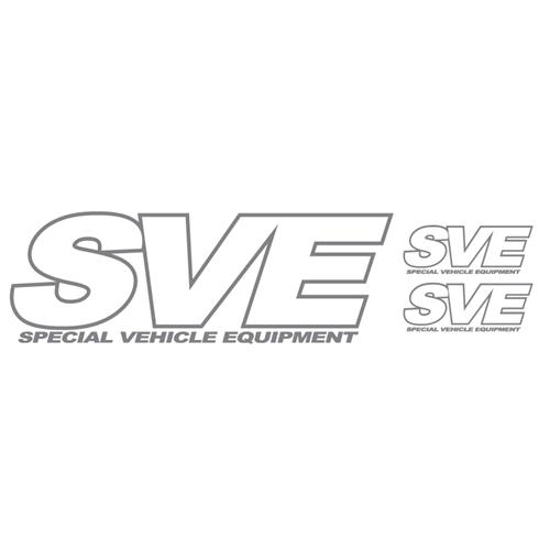 SVE Decal Set, 3pc Silver
