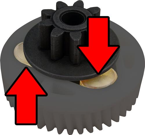 Mustang Window Motor Gear Bushings, Set Of 3 (79-93)