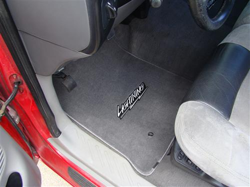 F-150 SVT Lightning Floor Mats with Lightning Logo Dark Graphite  (99-04)