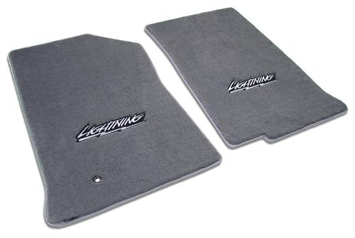 1999-04 FORD LIGHTNING DARK GRAPHITE FLOOR MATS WITH LIGHTNING LOGO