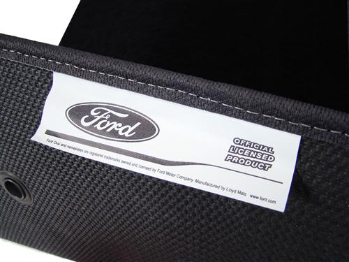 F-150 SVT Lightning Floor Mats with Svt F150 Logo Black  (99-04)