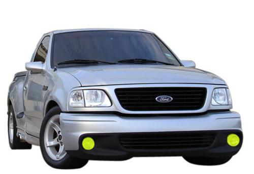 1999-00 Ford Lightning Yellow Fog Light Tint  Same as SVE-15203Y but for lightning - Picture of 1999-00 Ford Lightning Yellow Fog Light Tint  Same as SVE-15203Y but for lightning