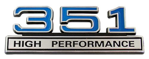 F-150 SVT Lightning 351 High Performance Emblem Blue  (93-95)