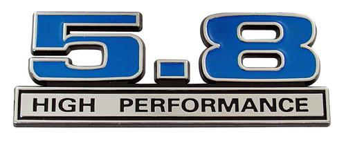 F-150 SVT Lightning High Performance Emblem Blue  (93-95) 5.8