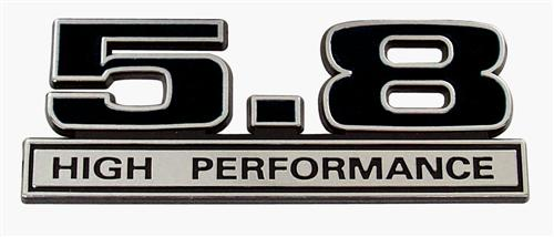 F-150 SVT Lightning 5.8 High Performance Emblem Black  (93-95)