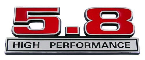 F-150 SVT Lightning 5.8 High Performance Emblem Red  (93-95)
