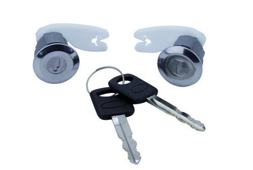1993-84 Lightning Lock Set with Chrome Bezel, Includes Keys - Picture of 1993-84 Lightning Lock Set with Chrome Bezel, Includes Keys