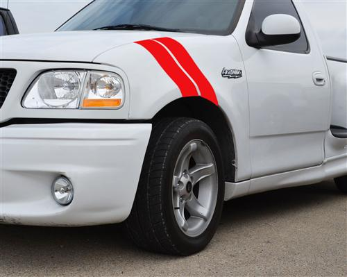 SVE F-150 SVT Lightning Fender Hash Marks, LH Driver Side Red (93-04)