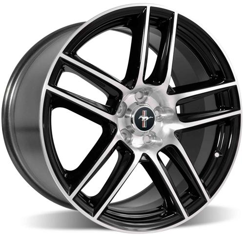 Ford Racing Mustang 2012 Boss 302 Laguna Seca Wheel 19X10 Black W/ Machined Face (05-15) M-1007-DC1910LGB