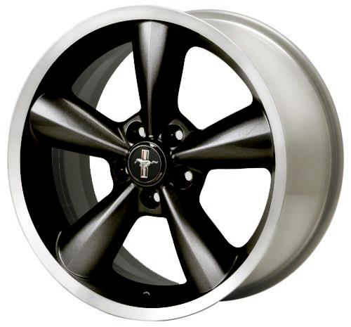 Ford Racing Mustang Bullitt Wheel 18X8.5  Black  (05-14) M-1007-S1885B - Picture of Ford Racing Mustang Bullitt Wheel 18X8.5  Black  (05-14) M-1007-S1885B