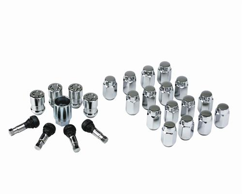 Ford Racing Mustang Mcgard Lug Nut & Lock Kit Chrome M-1012-K
