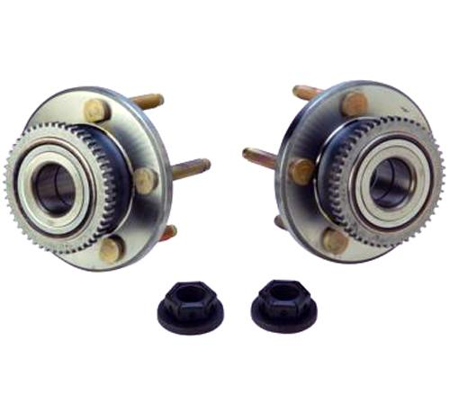 "2005-2014 MUSTANG FORD RACING FRONT HUB PAIR WITH 3"" ARP STUDS, M-1104-A"