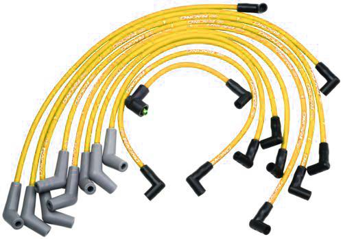 79-95 MUSTANG 5.0L & 5.8L FORD RACING YELLOW PLUG WIRE SET, M-12259-Y301