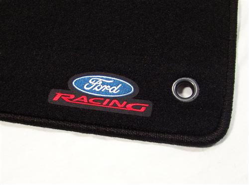 1994-04 Floor Mats, Ford Racing, Charcoal, Pair M-13086-B - Picture of 1994-04 Floor Mats, Ford Racing, Charcoal, Pair M-13086-B