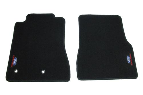 2010-2014 Mustang Black Ford Racing Floor Mats, M-13086-Ma - picture of 2010-2014 Mustang Black Ford Racing Floor Mats, M-13086-Ma
