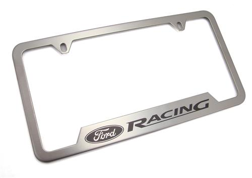 FORD RACING STAINLESS STEEL LICENSE PLATE FRAME, M-1828-SS304B