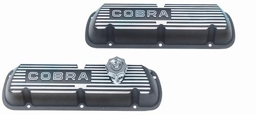 Ford Racing Mustang Valve Covers w/ Cobra Logo Black (86-93) 5.0L M-6000-C302