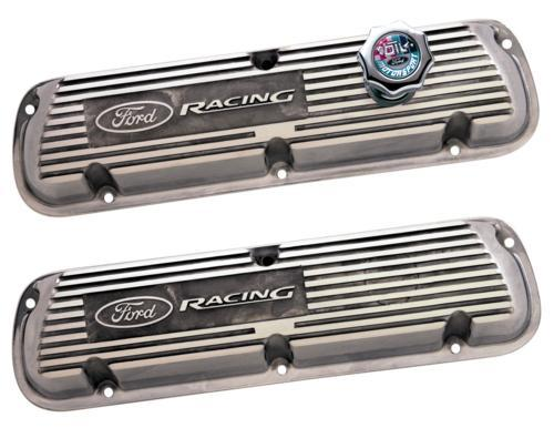 Ford Racing Mustang Valve Covers w/ Ford Racing Logo Polished (86-93) 5.0L M-6000-K302R
