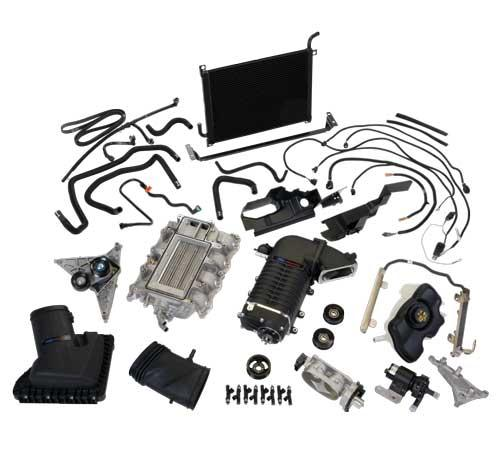 2011-2014 MUSTANG GT 5.0L FORD RACING 624HP BLACK SUPERCHARGER KIT, M-6066-MGT624D