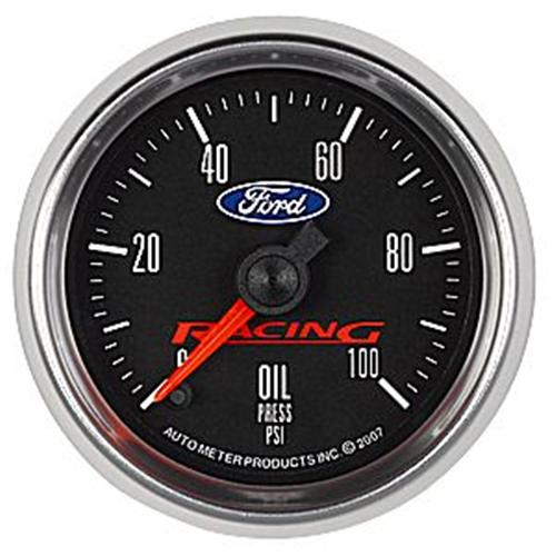 "Ford Racing Mustang 2 1/16"" Oil Pressure Gauge M-9278-BFSE"