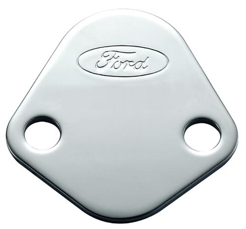 Mustang Fuel Pump Block-Off Plate with Ford Oval Logo (79-85) M-9351-A302