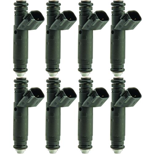 FORD RACING MUSTANG 80LB FUEL INJECTORS, SET OF 8 EV6 BODY WITH USCAR CONNECTOR, M-9593-LU80