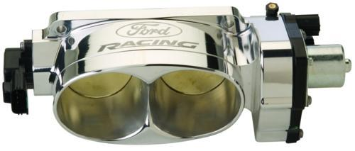 07-12 MUSTANG COBRA SHELBY GT-500 TWIN 65MM POLISHED FORD RACING THROTTLE BODY, M-9926-CJ65