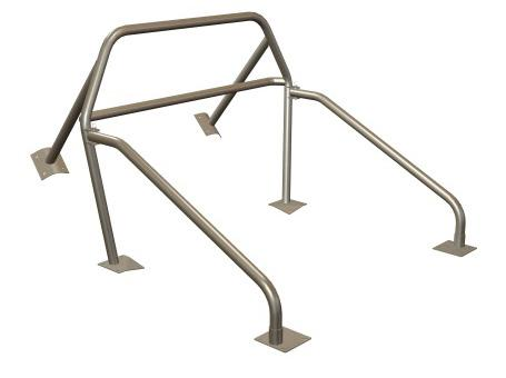 Maximum Motorsports  Mustang Nhra 6 Point Rollbar w/ Bolt-In Door Bars  And Welded Brace (79-93) Convertible