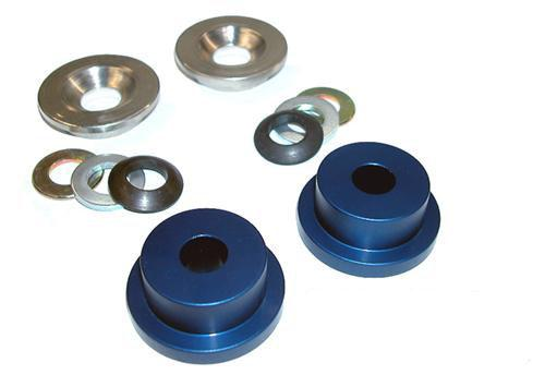 1984-04 Mustang Aluminum Steering Rack Bushings, Stock K-Member - 1984-04 Mustang Aluminum Steering Rack Bushings, Stock K-Member
