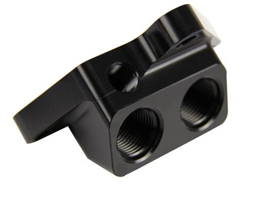 2011-14 Mustang 5.0L Remote Oil Filter Adaptor - Picture of 2011-14 Mustang 5.0L Remote Oil Filter Adaptor