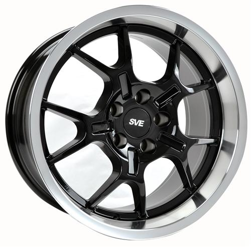 Mustang Ford GT Wheel - 18x10 Black W/ Machined Lip (94-04)