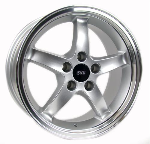 Mustang Cobra R Wheel - 17x9 Silver w/ Machined Lip (94-04)