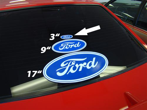 "3.5""X1.5"" Ford Oval Decal"