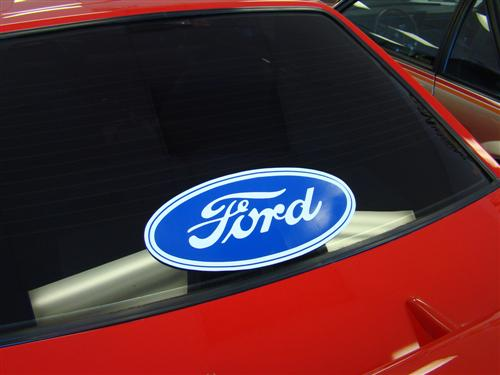 "17""X8"" Ford Oval Decal"