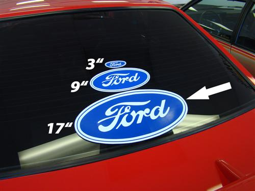 Ford Oval Decal w/ White Background