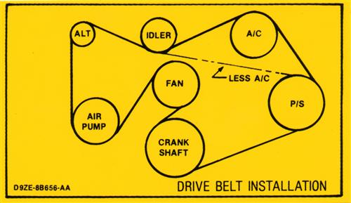 Mustang 302 Drive Belt Decal (1979)