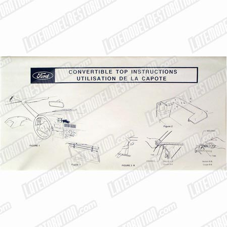 Mustang Convertible Top Instructions Sun Visor Sleeve (87-90)