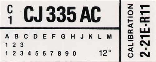 Mustang Engine Code Decal With A/C (1982) GT